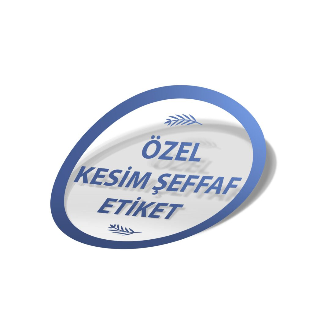 Düz Kesim Etiket – Sticker